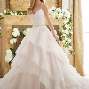 Elaborately Beaded Crystal Ball Gown Wedding Dress | Style 2873 | Morilee