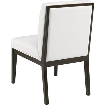 Othello Dining Chair White Leatherette (Set of 2)