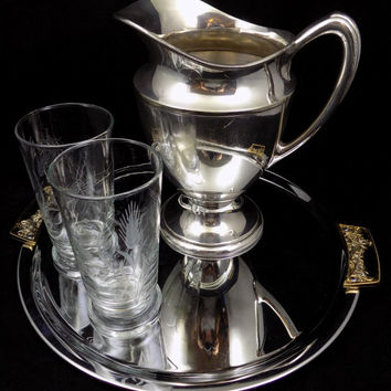 Wallace Silversmiths, Silver Plate Pitcher, 48 Ounce Silver Water Pitcher