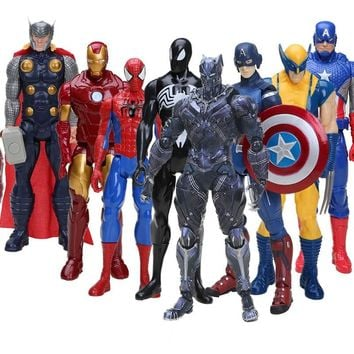 marvel the avengers Hero Series Action Figure Super Heros Captain America Ironman Spiderman American Movie Anime PVC Figure Toy