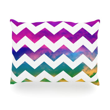 "Beth Engel ""Lucky Chevron"" Oblong Pillow"