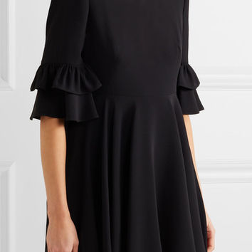 Alexander McQueen - Ruffle-trimmed crepe mini dress