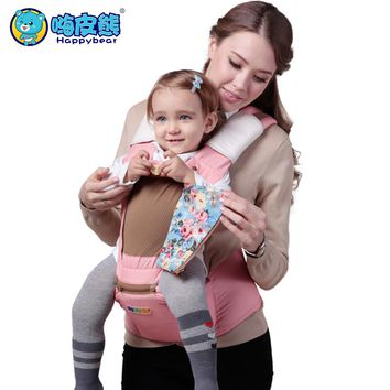For 0-36 months baby carrier ergonomic kids sling backpack pouch wrap Front Facing multifunctional infant kangaroo hipseat heaps