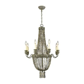 Cote des Basques Shell Chandelier Pebble Grey,Grey Shell