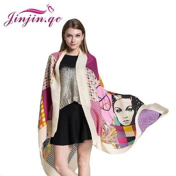 [Jinjin.QC] 2017 Women Scarf beach towel Scarves & Shawls Elephant pashmina Lonely pat