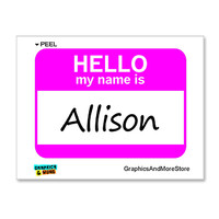 Allison Hello My Name Is Sticker
