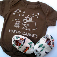 Happy Camper Organic Gift Set for Baby Brown by GrowingUpWild
