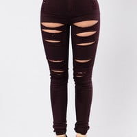 Roll Out Jeans - Plum