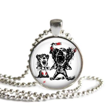 Sweeny Todd Broadway Musical Silver Plated Pendant Necklace or Keychain