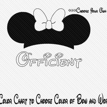 Officient Wedding Bride Groom Party Minnie Mouse Ears Choose Your Color Printable Iron On Transfer Clip Art DIY Tshirts ITEM12