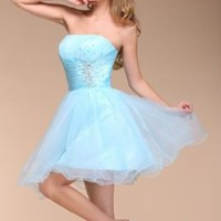 MerMaid Women's Prom Ball Gown Dress Color Baby Blue Size 10