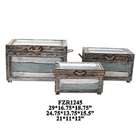 Nantucket Weathered Wood Trunks By Crestview Collection Cvfzr1245