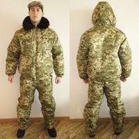 Winter Ukrainian Military Pixel Camo Uniform Set BDU Suit Size S or 46 for Europe