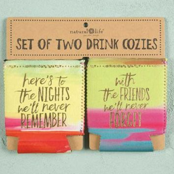 Here's to Nights Set of 2 Can Koozies