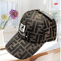 Fendi Fashion New Embroidery Letter Women Men Sun Protection Cap Hat 6#