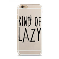 Kind of lazy - Super Slim - Printed Case for iPhone - SC-083