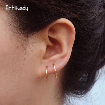 Artilady cartilage earring hoop earrings set small hoop earring for women 3 prs set dropshipping jewelry gift
