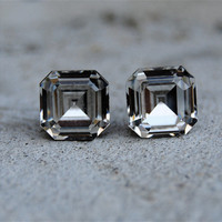 Diamond Stud Earrings  Vintage Swarovski Crystal by MASHUGANA