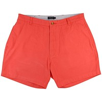 "The Regatta 6"" Short Flat Front in Coral Red by Southern Marsh - FINAL SALE"