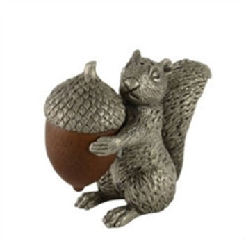 Squirrel with Wood Acorn Salt & Pepper Set