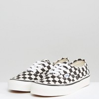 Vans Anaheim Authentic Trainers In Black Check at asos.com