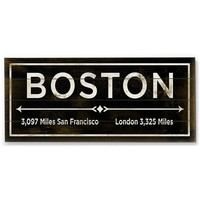 Boston Wood Sign