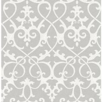 A-Street Axiom Grey Ironwork Wallpaper Sample-2625-21866SAM - The Home Depot