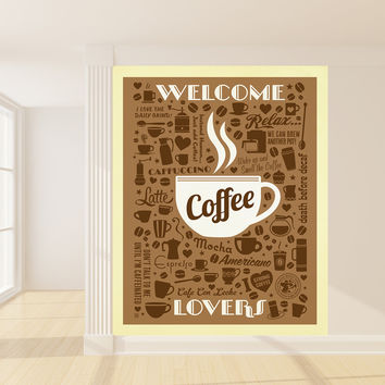Anderson Design Group's Coffee Lovers Mural wall decal