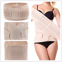 HEXIN Plus Size Three-pieces Body Shapers for Women Steel Boned Corsets Gastric Band Pelvis Band Postpartum Belt Tummy Slimming Waist Trainer Slimming Cincher Burn Underwear Shapewear = 1696858628