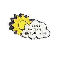 Look On The Bright Side Enamel Pin in Sparkly Sunshine