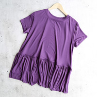 peplum crewneck tee shirt - more colors