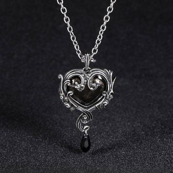 Skull Red red peach heart crystal necklace pendant accessories Men Women  Jewelry 1e758bf94d5f