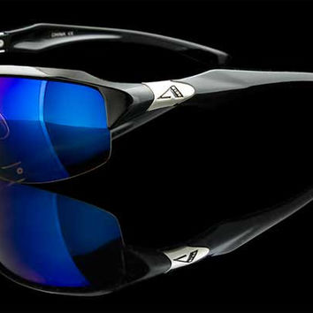 "BlueTech HD Wraparound Sport Sunglasses ""Reef"""