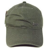 Jeep Unisex Solid Color Adjustable Cutton Baseball Cap Outdoor Sunhat,Green