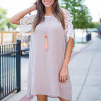 Coffee Shop Dress, Taupe