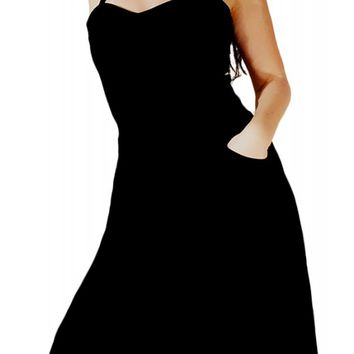 Switchblade Stiletto Women's Black Swing Dress