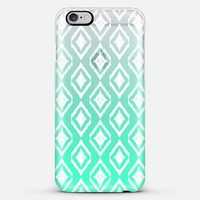 White Tribal Diamonds on Mint iPhone 5s case by Micklyn Le Feuvre | Casetify