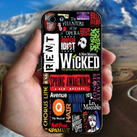 Broadway Musical Collage - Print on hard plastic case for iPhone case. Select an option
