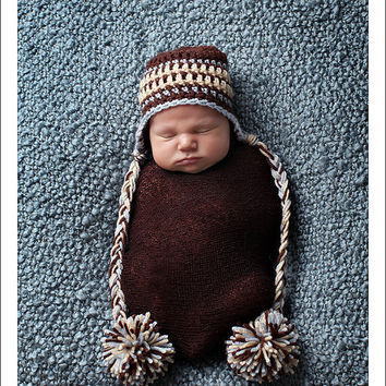 Crocheted Baby Hat Crocheted Newborn Hat Newborn by knoodleknits