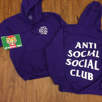 AntiSocial Social Club Hoodie in PURPLE RAIN Hoody / ASSC / Kanye West Anti Social  Cash Me Outside How Bou tanti social club concert