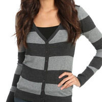 V-Neck Rugby Cardigan | Shop Sweaters at Wet Seal