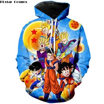 PLstar Cosmos Drop shipping 2018 autumn New hoodies Anime Dragon Ball Z Goku / Vegeta Print 3d Men Women Hooded Sweatshirt