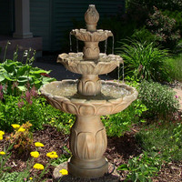Sunnydaze Decor Garden Fountain in Garden Stone Color