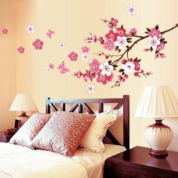 Pink Cherry Blossom Wall Decal