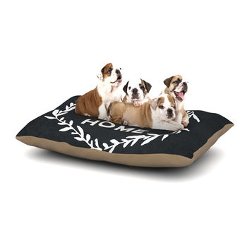 "KESS Original ""Home Sweet Home"" Black White Dog Bed"