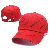 Red BALENCIAGA Golf Baseball Cap Hat