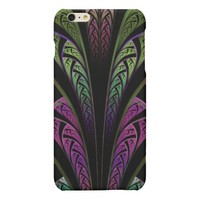 Fractal Flair in Green and Purple iPhone 6 Case