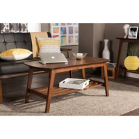 Baxton Studio Sacramento Coffee Table in Dark Walnut