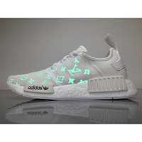 Louis Vuitton LV x Adidas Consortium NMD White Luminous BA7245 Boost Sport Running Shoes Casual Shoes Sneakers