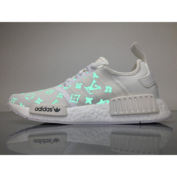 Best Online Sale Louis Vuitton LV x Adidas Consortium NMD White Luminous BA7245 Boost